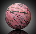 Lapidary Art:Eggs and Spheres, Rhodonite Sphere. Presumed Madagascar. ...