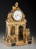Clocks & Mechanical:Clocks, A French Gilt Bronze Figural Bastille Clock: The Execution of Marie Antoinette, Paris, France, 19th century. Marks to ...