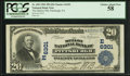 National Bank Notes:Pennsylvania, Pittsburgh, PA - $20 1902 Plain Back Fr. 650 The Mellon NB Ch. #(E)6301. ...