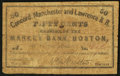 Obsoletes By State:New Hampshire, Concord, NH- Concord, Manchester & Lawrence R.R. 50¢ Nov. 1, 1862. ...