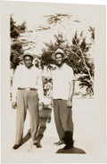 Baseball Collectibles:Photos, 1946 Josh Gibson & Monte Irvin Original Photograph (PSA/DNAType 1) Hand Notated by Irvin from The Monte Irvin Collection. ...
