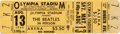 Music Memorabilia:Tickets, Beatles Unused Olympia Stadium Concert Ticket (1966). ...