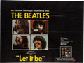 Music Memorabilia:Memorabilia, Beatles Let it Be British Quad Movie Poster (UK, UnitedArtists, 1970)....