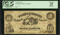Confederate Notes:1861 Issues, Fully Framed T10 $10 1861.. ...