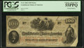 Confederate Notes:1862 Issues, Printed Foldover Error T41 $100 1862.. ...