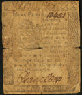 Colonial Notes:Pennsylvania, Pennsylvania April 3, 1772 9d Very Good.. ...