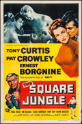 """Movie Posters:Sports, The Square Jungle (Universal International, 1955). One Sheet (27"""" X 41""""), Title Lobby Card & Lobby Cards (6) (11"""" X 14""""). Sp... (Total: 8 Items)"""