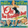 """Movie Posters:Musical, Oh, You Beautiful Doll (20th Century Fox, 1949). Six Sheet (79"""" X 80"""") & Lobby Card (11"""" X 14""""). Musical.. ... (Total: 2 Items)"""