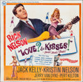 "Movie Posters:Rock and Roll, Love and Kisses (Universal, 1965). Six Sheet (80"" X 80""). Rock andRoll.. ..."
