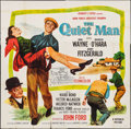 "Movie Posters:Drama, The Quiet Man (Republic, R-1957). Six Sheet (79"" X 80""). Drama.. ..."