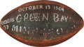 Football Collectibles:Balls, 1963 Green Bay Packers vs. Minnesota Vikings Game Ball Presented to Willie Davis....