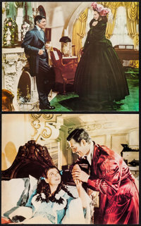 """Gone with the Wind (MGM, R-1967). Deluxe Jumbo Lobby Cards (9) (16"""" X 20""""). Academy Award Winners. ... (Total:..."""
