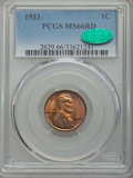 Lincoln Cents: , 1933 1C MS66 Red PCGS. CAC. PCGS Population: (342/53). NGC Census: (203/25). Mintage 14,360,000. ...