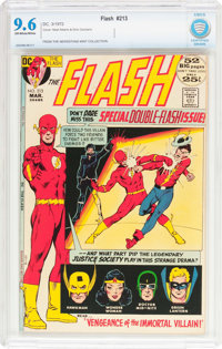 The Flash #213 (DC, 1972) CBCS NM+ 9.6 Off-white to white pages