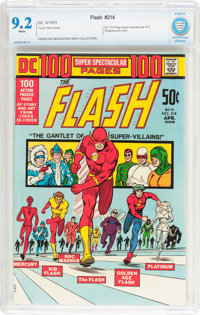 The Flash #214 (DC, 1972) CBCS NM- 9.2 White pages