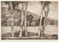 Fine Art - Work on Paper:Print, Luigi Lucioni (American, 1900-1988). Pair of Countryside Landscapes. Etching, each. Ed. 250. Each signed in pencil lower... (Total: 2 Items)