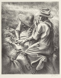 Various Artists (20th Century) Pair of Farming Scenes Ed. 250 Published by Associated American Ar
