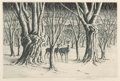 Fine Art - Work on Paper:Print, Sam Margolies (American, 1897-1978). Group of Three Winter Landscapes. Aquatint and Etching, each. Ed. 250 . Each signed... (Total: 3 Items)