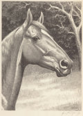Fine Art - Work on Paper:Print, George Ford Morris (American, 1873-1960). Man O' War, 1921. Lithograph. 12-3/8 x 9-1/8 inches (image). 15-3/4 x 11-3/4 i...