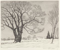 Prints, William MacLean (American, 1897-1977). The Sentinel, 1965. Etching. 9-3/4 x 11-3/4 inches (image). 12-1/2 x 15-7/8 inche...