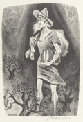 Prints, William Gropper (American, 1897-1977). Johnny Appleseed, 1941. Lithograph. 13 x 9 inches (image). 16-1/2 x 12 inches (sh...