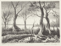 Charles Taylor Bowling (American, 1891-1985) Morning, 1942 Lithograph 6 x 8-1/4 inches (image)
