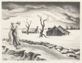 Prints, Thomas Hart Benton (American, 1889-1975). Flood, 1937. Lithograph. 9-1/8 x 12-1/4 inches (23.2 x 31.1 cm) (image). Ed. 1...