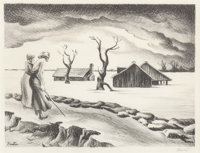 Thomas Hart Benton (American, 1889-1975) Flood, 1937 Lithograph 9-1/8 x 12-1/4 inches (23.2 x 31