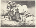 Fine Art - Work on Paper:Print, Thomas Hart Benton (American, 1889-1975). Sunday Morning,1939. Lithograph. 9-5/8 x 12-5/8 inches (24.4 x 32.1 cm) (imag...