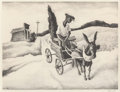 Prints, Thomas Hart Benton (American, 1889-1975). Lonesome Road, 1938. Lithograph. 9-5/8 x 12-1/2 inches (24.4 x 31.8 cm) (image...