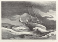 Fine Art - Work on Paper:Print, Thomas Hart Benton (American, 1889-1975). After the Blow,1946. Lithograph. 9-7/8 x 13-7/8 inches (image). 12 x 16 inche...