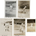 Baseball Collectibles:Photos, 1940's Biz Mackey & Leon Day Original Photographs Lot of 5(PSA/DNA Type 1) from The Monte Irvin Collection. ...