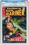 Silver Age (1956-1969):Superhero, The Sub-Mariner #2 (Marvel, 1968) CGC VF/NM 9.0 Off-white to white pages....