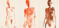 Works on Paper, Eric Fischl (b. 1948). Untitled, 1995. Watercolor on paper, in three sheets framed together. 5 x 10 inches (12.7 x 25.4 ...