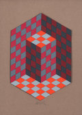Post-War & Contemporary:Contemporary, Victor Vasarely (1906-1997). Composition, circa 1980.Acrylic on board laid on panel. 17-3/4 x 13-1/4 inches (45 x 33.8...