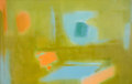Post-War & Contemporary:Abstract Expressionism, Esteban Vicente (1903-2001). Blue, 1986. Oil on canvas.35-1/8 x 55-3/8 inches (89.2 x 140.7 cm). Signed, titled, and da...