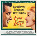 """Movie Posters:Comedy, Lover Come Back (Universal International, 1962). Six Sheet (81"""" X81""""). Comedy.. ..."""