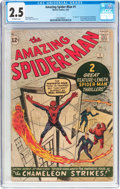 Silver Age (1956-1969):Superhero, The Amazing Spider-Man #1 (Marvel, 1963) CGC GD+ 2.5 Off-whitepages....