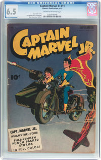 Captain Marvel Jr. #11 (Fawcett Publications, 1943) CGC FN+ 6.5 Cream to off-white pages