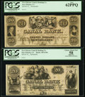 Obsoletes By State:Louisiana, New Orleans, LA- New Orleans Canal & Banking Company $10 18__ Two Remainders and $20 18__ Two Remainders.. ... (Total: 4 notes)
