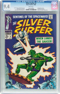 Silver Age (1956-1969):Superhero, The Silver Surfer #2 (Marvel, 1968) CGC NM 9.4 White pages....