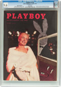 Magazines:Vintage, Playboy V4#10 Newsstand Edition (HMH Publishing, 1957) CGC NM+ 9.6 White pages....