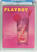 Magazines:Vintage, Playboy V4#9 Newsstand Edition (HMH Publishing, 1957) CGC NM- 9.2 White pages....