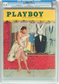 Magazines:Vintage, Playboy V2#6 Newsstand Edition (HMH Publishing, 1955) CGC NM 9.4 White pages....
