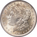 Errors, 1921 $1 Morgan Dollar -- Double Struck in Collar -- AU58 PCGS....