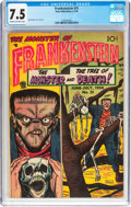 Golden Age (1938-1955):Horror, Frankenstein Comics #31 (Prize, 1954) CGC VF- 7.5 Cream tooff-white pages....