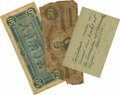 Military & Patriotic:Civil War, ROBERT E. LEE'S CONFEDERATE MONEY GIVEN PROVENANCE BY FITZHUGH LEE.... (Total: 3 Items)