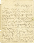 Autographs:Military Figures, FITZHUGH LEE: HIGHLY IMPORTANT POSTWAR MANUSCRIPT SENT TO ROBERT E. LEE....