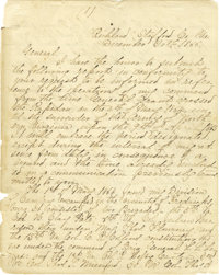 FITZHUGH LEE: HIGHLY IMPORTANT POSTWAR MANUSCRIPT SENT TO ROBERT E. LEE