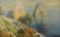 Paintings, BERNARDO HAY (British 1864). Capri. Oil on canvas. 10 x 16 inches (25.4 x 40.6 cm). Signed lower right. Inscribed: Cap...